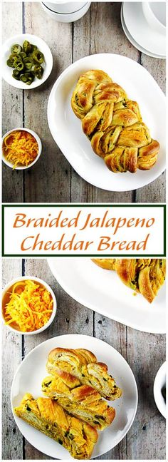 Braided Jalapeno Cheddar Bread is a soft and flavorful bread with sharp cheddar cheese and spicy jalapenos weaved throughout. via @berlyskitchen