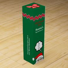 Whimsical Holiday Santa's Special Reserve Wine Box Great for Christmas parties