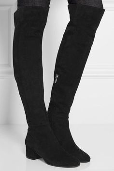 Gianvito Rossi - Suede Over-the-knee Boots - Black - IT38.5