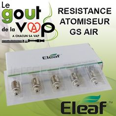 Mèches/résistances 1.5 ohm en bottom dual coil (2X3ohms) adaptables uniquement pour GS AIR Eleaf  de 8 à 20w / 3.5v à 5.5 v