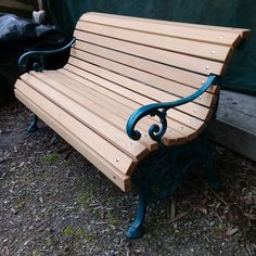 A revamp of an old classic park bench. New paint, slats & looking good. Outdoor Furniture, Outdoor Decor, Bench, Classic, Painting, Home Decor, Derby, Decoration Home, Room Decor