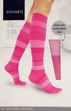 IGVARIS 832C Microfiber Shades Womens Compression Socks KNEE-HI 20-30mmHg
