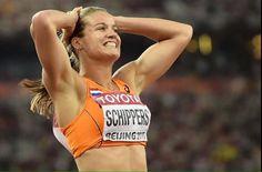 Daphne Schippers , wereldkampioen op 200mtr hardlopen 2015