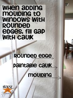 How to add moulding to windows with rounded corners