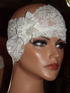 Lace flapper headband- fabulous