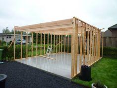 Modern garden house / outbuilding: how do you do it, how did I do it Shed Design, Garage Design, House Design, Building A Garage, Building A House, Framing Construction, Garden Cabins, Modern Garage, Backyard Sheds