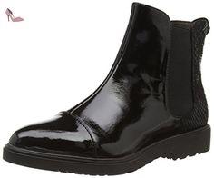 Tamaris  1-1-25057-25 024, Bottes Chelsea courtes, doublure froide femmes - Noir - Schwarz (Blk Pat./Stru. 024), Taille 38 EU - Chaussures tamaris (*Partner-Link)