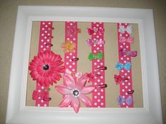 DIY hairbow organizer - simple, cute, effective! A must have!