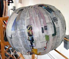 RAMBLINGS FROM A DESERT GARDEN....: How to Make Your Own Paper Mache Pumpkin