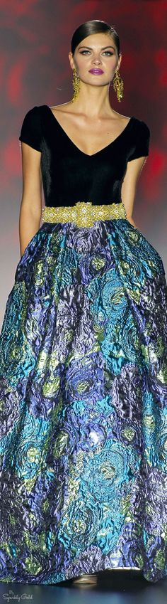 Patricia Avendaño 2016 I think I'd like it better if it was a shorter, full skirt.