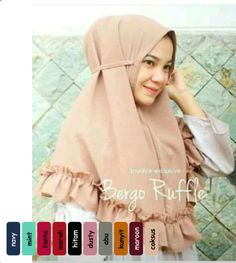 Jilbab Hijab Kerudung Instan Bergo Ruffle Rempel Murah mempunyai keterangan produk sebagai Bahan Crepe Diamond Aplikasi Double Rempel Kerut Dibawah dan tali Ootd Fashion, Womens Fashion, Mint And Navy, Muslim Dress, Hijab Tutorial, Quality Diamonds, Niqab, Sewing Patterns, Hair Beauty
