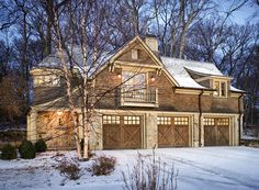 Latest-Sophisticated Large Garage Plans in Variety of Constructions: Traditional Garage And Shed With Wood Large Garage Plans And Rustic Wood Exerior For Rustic Home Design Garage Guest House, Carriage House Garage, Barn Garage, Garage Doors, Garage Loft, Garage Exterior, Garage Cabinets, Dream Garage, Garage Apartment Plans