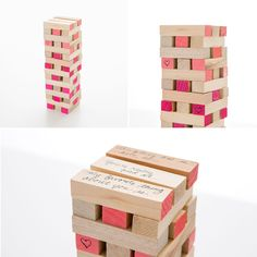This DIY date night Jenga set is a must-make for Valentine's Day.