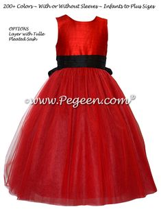 Red And Black Tulle Custom Silk Flower Style 402 Pegeen