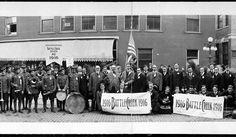 1915 Battle Creek Michigan Y.M.C.A. Band Vintage Panoramic Photograph