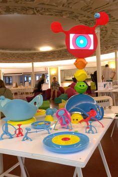 MOLUK's toys at the KIDS DESIGN WEEK Milan @museoscienza with @afilii. #moluk #toydesign #milandesignweek #fuorisalone #mdw2015 #kidsdesignweek #oogi #bilibo #mox #nello #plui #pluicloud #openended #freeplay #playtools Kids Toys, Milan, Party, Design, Display Cases, Toy Store, Shop Displays, Childhood Toys, Children Toys