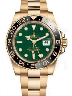 ZAEGER - Rolex GMT Master II 18k Yellow Gold Green Index Dial 116718, (http://www.zaeger.com.au/all-watches/rolex-gmt-master-ii-18k-yellow-gold-green-index-dial-116718/)