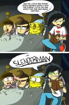 Timmy, Jimmy, Spongebob, Danny, & SLENDERMAN!