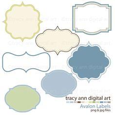 Tracyanndigital art on etsy curvy labels