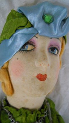 """Exceptional Vintage 1920s French Flapper Silk Boudoir Doll 30"""""""