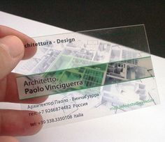 In this post, you will find our collection of 80 most creative and unique Transparent Business Cards for your inspiration. Check this out if you would like to be creative in designing your own business card. Transparent Business Cards, Clear Business Cards, Plastic Business Cards, Luxury Business Cards, Architecture Business Cards, Architecture Design, Architect Logo, Architect House, Presentation Cards