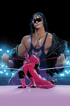 "WWE Issue #2 Bret ""Hitman"" Hart Variant Cover on Behance"