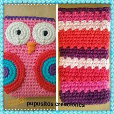 Portacelulares crochet