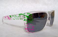 The Holcrook sunglasses in Clear / MintBerry by StoopidShades, $20.00