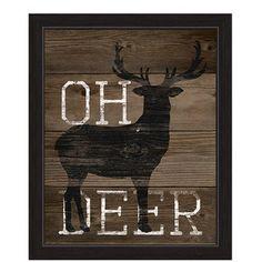 Oh Deer Framed Graphic Art