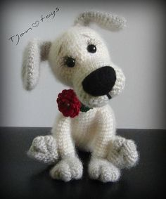 Items similar to Puppy OOAK Small Dog Stuffed Animals Crochet Handmade Soft Toy Decor Amigurumi made to order on Etsy - This toy is made with love by me! Wonderful gift for family and friends. It is called a decor toy a - Cute Crochet, Crochet Crafts, Crochet Dolls, Crochet Baby, Crochet Projects, Amigurumi Patterns, Amigurumi Doll, Knitting Patterns, Crochet Patterns