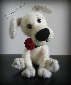 Puppy OOAK kleine hond gevulde dieren haak handgemaakte door Tjan