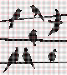free cross stitch pattern, birds, cross stitch, patterns