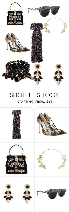 """""""Untitled #49"""" by duskrunner123 ❤ liked on Polyvore featuring Costarellos, Jimmy Choo, Dolce&Gabbana, BCBGMAXAZRIA, Vera Bradley, Jean-Paul Gaultier and Mixit"""