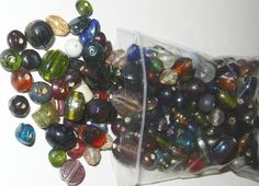 4oz1/2 Lbl Lampwork Glass Beads Handmade Shiny by jcraft4you, $4.50