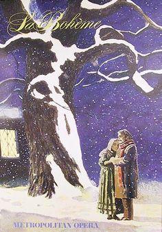 Jamie Wyeth, La Boheme (Metropolitan Opera), Poster