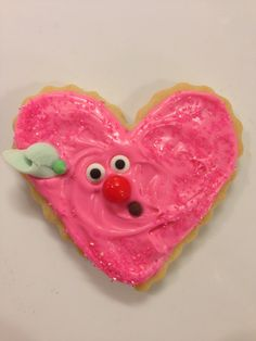 Frosted Valentine Cookies - Year of the face