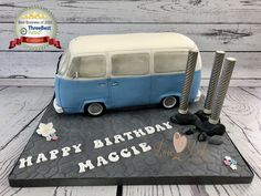 VW Campervan cake by Love2bake- Sept 2020 Cake Business, Cake Makers, Novelty Cakes, Homemade Cakes, Campervan, Business Supplies, Plymouth, Cake Ideas, Vw