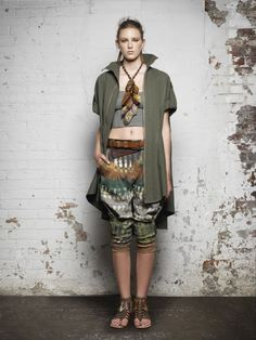 Donna Karan Casual Luxe Spring 2012 Collection >> I <3 the shorts.