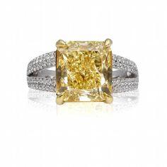 canary yellow diamonds | Fancy Canary Yellow Cushion from Top Rate Diamonds in Atlanta, GA ...