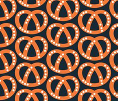 Pretzels fabric by Katy Potaty available on Spoonflower