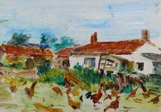 dans cette ferme du petit verger dont n'existe plus qu'une partie des bâtiments, c'est toute ma jeunesse à Saint Hilaire de Riez puisque avec ma mère et souvent mon père, nous allions quotidiennement nous approvisionner.