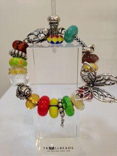 Trollbeads Troll Beads, All That Glitters, Lampwork Beads, Pandora, Sterling Silver Bracelets, Jewelry Crafts, Jewelery, Charmed, Craft Storage
