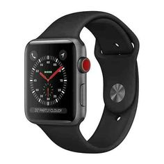 Apple Watch Series 3 (GPS + Cellular), Space Gray Aluminum Case with Black Sport Band - Grey (Refurbished) Apple Watch 42mm, Apple Watch Series 3, Buy Apple Watch, Apple Watch Bands, Apple Band, Apple Smartwatch, Ipad Pro Apple, Camera Digital Canon, Iphone 5s