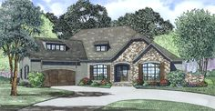 This 1 story European features 3970 sq feet. Call us at 866-214-2242 to talk to a House Plan Specialist about your future dream home!
