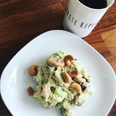 Mid-January can bring about a sad slide in your healthy eating resolve. Beth shares some thoughts about how to stay on the good eating band wagon and shares her cashew chicken salad recipe. Diced Chicken, Cashew Chicken, Rotisserie Chicken, Peanut Butter Jar, Homemade Mayonnaise, Roasted Cashews, Chicken Salad Recipes, Fresh Herbs