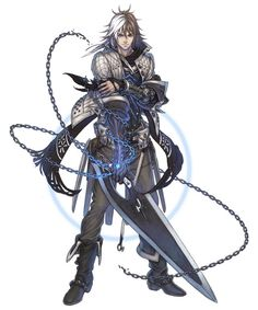 This is Zael. He's the protagonist of The last story and the character who you control with the acception of the first minute or so of the game. He gets this power from the Outsider (a god). Zael the rest of dagron's band of mercenaries were recruited by the island's rular fore mercenary work. Zael dreams of being a knight.