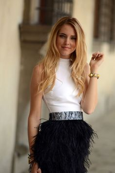 Yes to the belt, the top and the skirt. well..... maybe the skirt. i'd never pull it off.