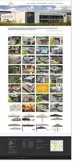Internetseite für die 1001 Sommer GmbH Gartenmöbel