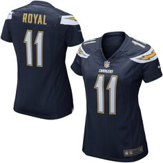Nike Eddie Royal San Diego Chargers Womens Game Jersey - Navy Blue