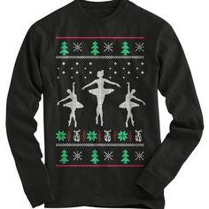 Ballerinas Ugly Christmas Sweater